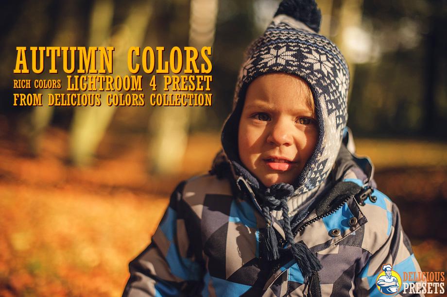 Autumn Colors Lightroom 4 Presets for Portraits