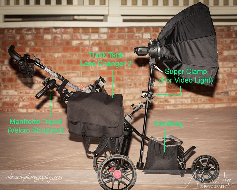 Carrying Lighting Gear Strobist Tool - Golf Cart DIY