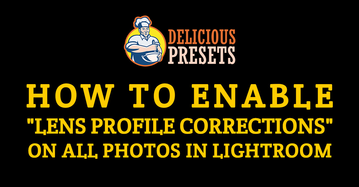 Enable profile corrections on all photos in Lightroom